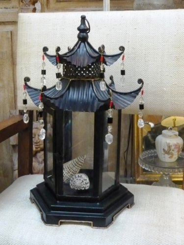 Custom Chinese Lantern with Rock Crystal and Coral