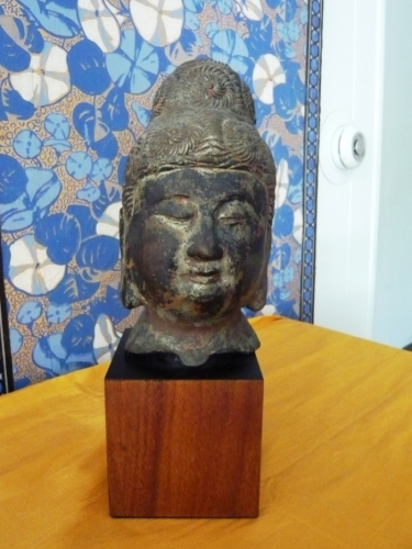 18th/19th c. Iron Buddha Head