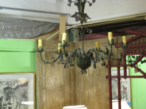French Wrought Iron Chandelier