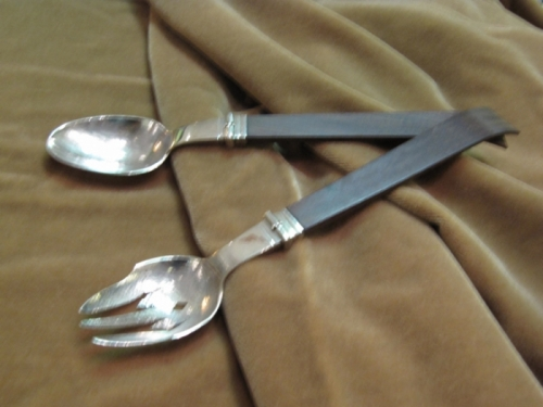 Spratling Sterling Salad Servers