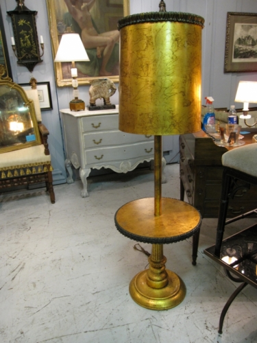 Amazing Solid Gold Leaf Lamp/Table