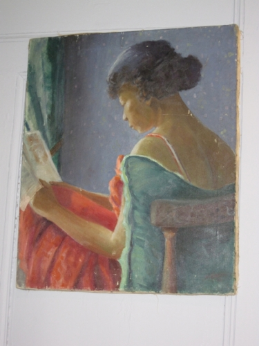 Painting of Woman Reading, 20th c.