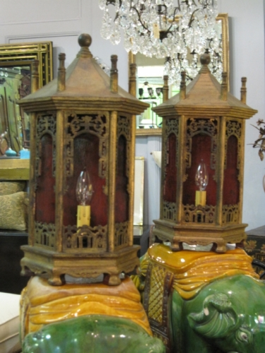Chinoiserie Lanterns or Niches