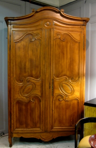 18th c. Louis XV Pine Armoire