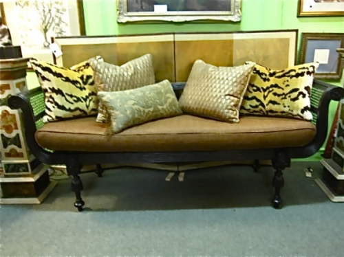 Anglo-Indian Caned Bench-daybed