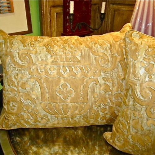 Vintage Fortuny Carnavalet Pillows
