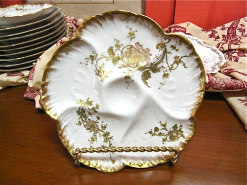 19th c. Limoges French Oyster Plate
