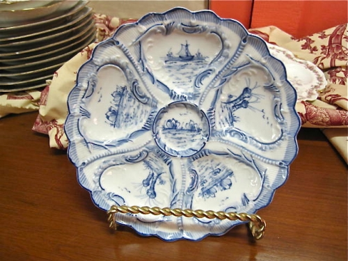 Antique German Oyster Plate