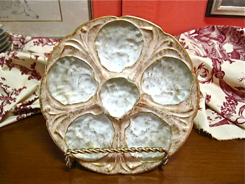 Unique  Aesthetic Movement Oyster Plate