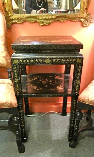 Chinese Export Lacquered Stand