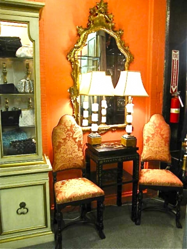 Jacobean-Style Chairs in Scalamandre Silk