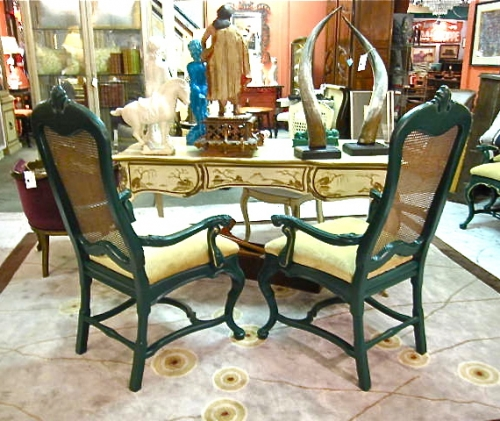 Pair George I Style Arm Chairs