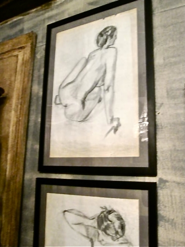 Pair Framed  J.L. Clemenceau Academic Charcoal Drawings
