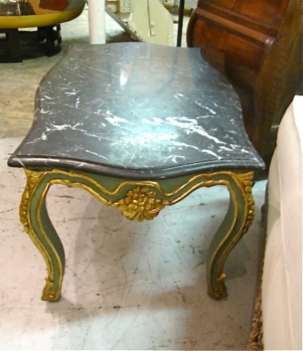 Marble Top Louis XV-Style Coffee Table
