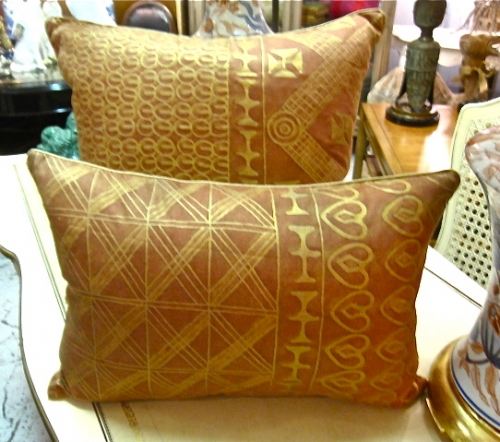 Fortuny Pillows in Ashanti Pattern