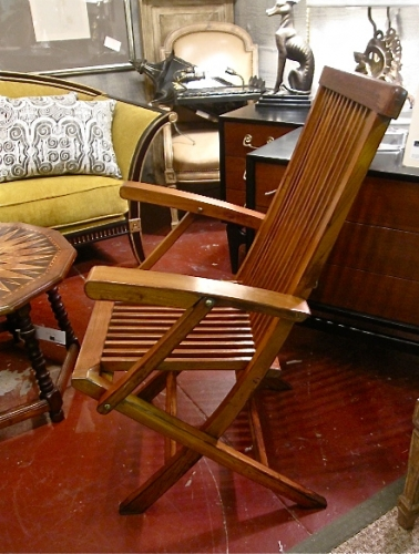 Pair Steamer Deck Chairs, c. 1940