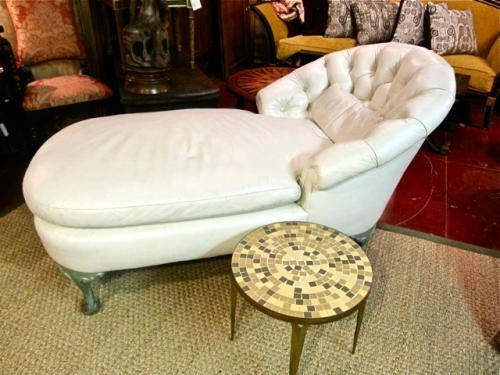 Late napoleon iii chaise longue sold items 20th c for Chaise napoleon 3