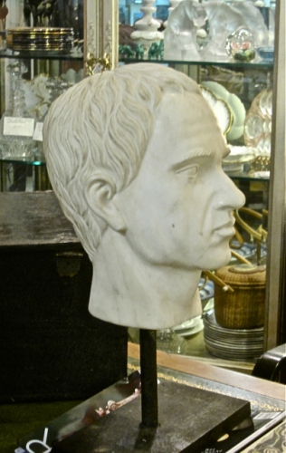 CARRERA MARBLE BUST, 20th c.