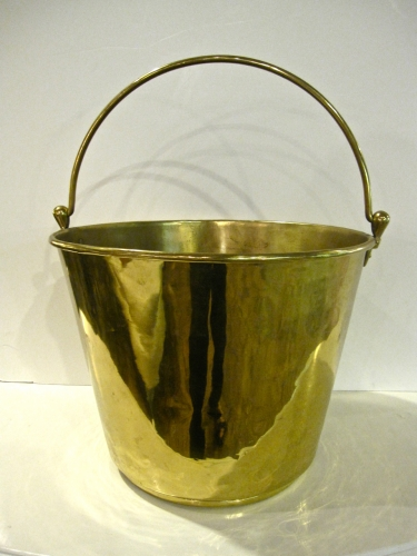 19th c. English Brass Bucket
