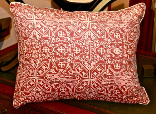 Pair Vintage Fortuny Pillows in Moresco