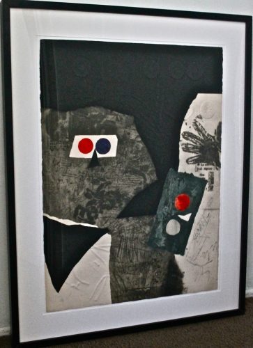 ANTONI CLAVE INTAGLIO LITHOGRAPH II, SIGNED & NUMBERED
