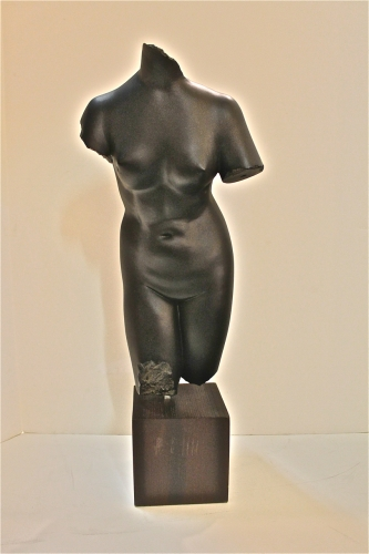 BLACK TERRA COTTA TORSO OF VENUS
