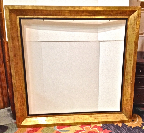 LARGE GOLD LEAFED 20TH C. FRAME