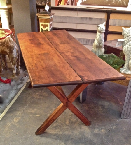 RUSTIC 19TH C. FRENCH FARM TABLE