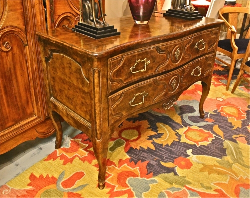 LOUIS XV/REGENCE STYLE TWO-DRAWER COMMODE