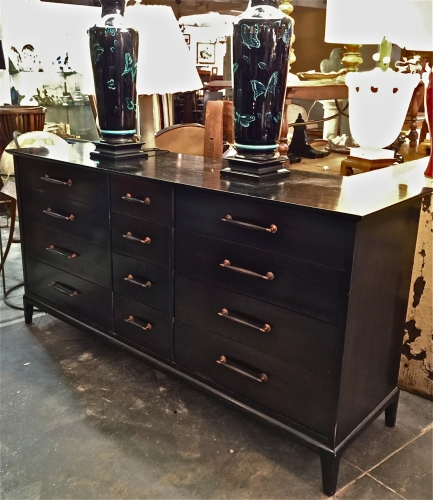 EBONIZED HENREDON CHEST OF DRAWERS/BUFFET c.1950s