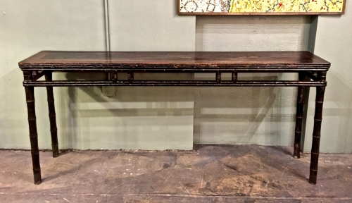 ANTIQUE CHINESE FAUX BAMBOO ALTAR TABLE