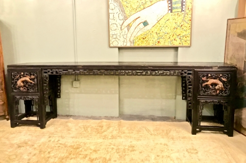 LONG CHINESE CARVED ALTAR TABLE