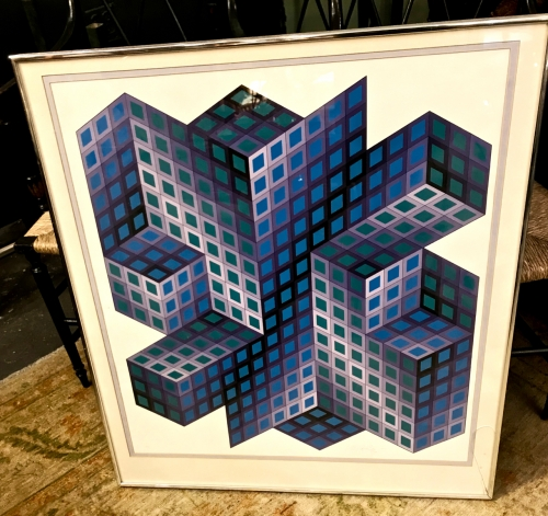 VICTOR VASARELY SIGNED & NUMBERED LITHOGRAPH