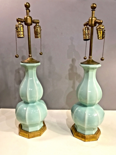 PAIR EARLY CHRISTOPHER SPITZMILLER LAMPS
