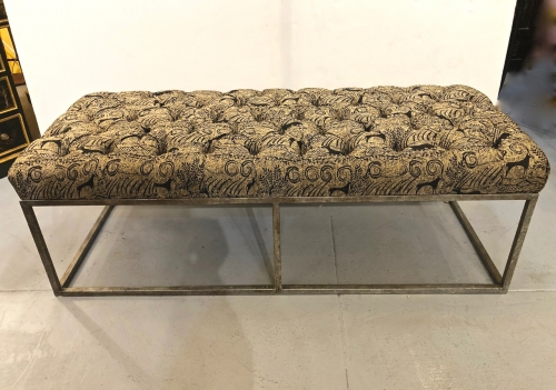 Tufted Long Bench in Clarence House