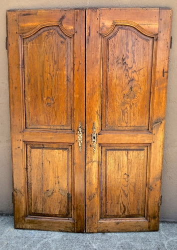 PAIR 18TH CENTURY FRENCH REGENCE ARMOIRE DOORS