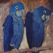 Blue Birds by Jesse Arms Botke