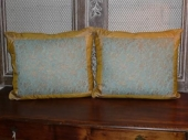 Fortuny Pillows in Irani Pattern-Gold Border