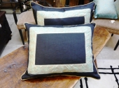 Pair Fortuny and Ralph Lauren Linen Pillows