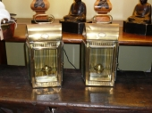 Pair 19th c. English Coach Lanterns