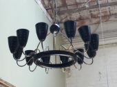 Large Tommi Parznger 12-Light Chandelier