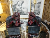 Pair  Japanese  Foo Dog Lamps