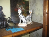Pair French Porcelain Dalmatians