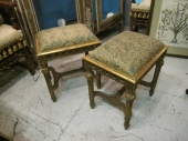 Louis XVI Style Benches in Fortuny