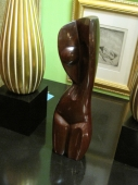 Carved Abstract Mahogany Nude