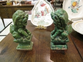 Pair Antique Early 19th c. Foo Dogs