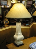 Faux Marble Baluster Lamps, 19th c.