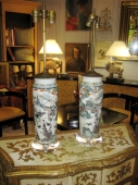 Pair 18th/19th c. Chinese Porcelain Lamps