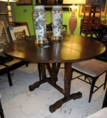 Antique Walnut Wine Tasting Table