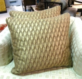 Fortuny Pillows in Piumette Pattern